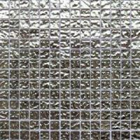 Buy cheap Electroplated Gold and Silver Glass Mosaic with 20 x 20 x 4mm Chip Size from wholesalers