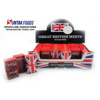 Buy cheap British Style Travel Sugar Free Mint Candy , Tin Box Triangle Shaped Candy from wholesalers