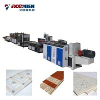 Buy cheap Double Color Printing PVC Ceiling Panel Making Machine With Vacuum Calibration Table from wholesalers