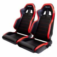 Buy cheap Black And Red PVC Shock Absorbing Car Seat Fully Reclinable OEM Supply from wholesalers