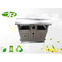 Buy cheap Classified Recycle Stainless Steel Waste Bin 80 * 40 * 90cm For Park from wholesalers