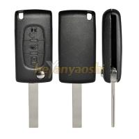 Buy cheap PSA Hu107t 3 Button Flip Key , Lock / Unlock Folding Remote Key Broken Proof product