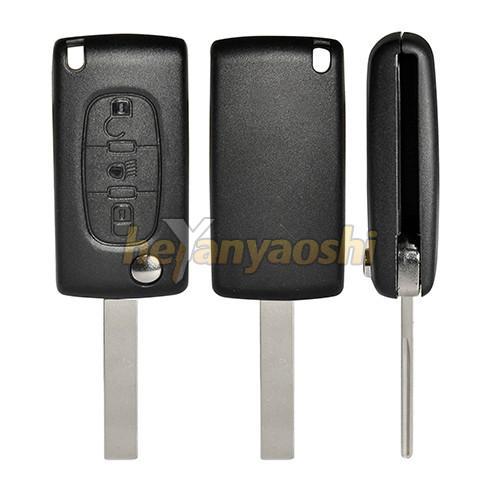 Buy cheap PSA Hu107t 3 Button Flip Key , Lock / Unlock Folding Remote Key Broken Proof from wholesalers
