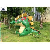 Buy cheap Outdoor Indoor Cartoon Dinosaur Fiberglass Statues For Amusement Park Decoration product