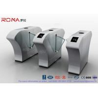 Buy cheap Airport Flap Barrier Gate RFID Interface Waist High Bidirectional Flap Barrier Turnstile product