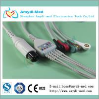 Buy cheap M&B one-piece 3-lead ecg cable,AHA,6PIN product
