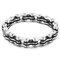 Buy cheap Sliver Mens Bike Stainless Steel Chain Bracelets 1420153  from wholesalers