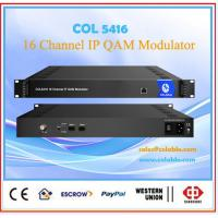 Buy cheap DIgital  cable tv scrambling system 16channel IP QAM dvb-c modulator with scrambler COL5416 from wholesalers