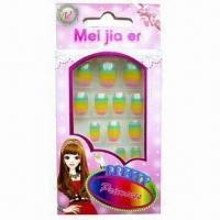 Buy cheap Children's Nail Tips, Flexible and Eco-friendly, Made of ABS product