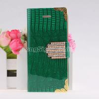 Buy cheap Superstar Shiny Diamond Irregular Lines PU Leather Protective Shell Cases For iPhone 5 from wholesalers