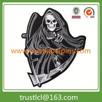 Buy cheap Custom made motor embroidery patch, jacket embroidered patch with skull logo from wholesalers