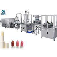 Buy cheap Full Automatic Lip Balm Filling Machine With Chilling Tunnel , 14kw Power from wholesalers