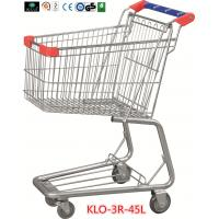 Buy cheap Promotional Chrome Plating Grocery Shopping Trolley 45L With Blue Plastic Handle from wholesalers