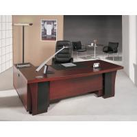 Buy cheap red cheerywood veneer MDF Manager Desk with leather desktop and cable system hole BS89524MT from wholesalers