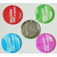 Buy cheap Tinplate button badge Custom badge , tin button badge with safety pin from wholesalers