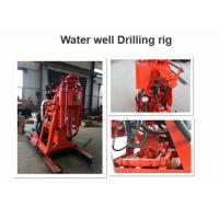 Small Water Well Borehole Drilling Rig GK-200 Color Customized With Hydraulic Feeding