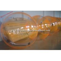 Buy cheap Durable Adult Inflatable Water Walking Ball Rental , Orange / Transparent from wholesalers