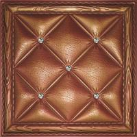 Buy cheap Eco-friendly Buffering 3D Leather Wall Tiles Washable Highly embossed product