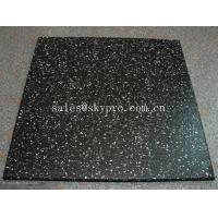 Buy cheap Multi-color rubber pavers Smooth embossed Surface , crumb rubber tile flooring from wholesalers