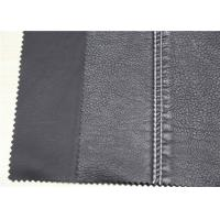 Buy cheap Dark Silver PU Washed Leather Hydrolysis Resistance For Clothing Fabric from wholesalers