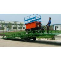 Buy cheap ISO Manual mobile yard ramps Rust - proof hydraulic container from wholesalers