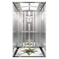 Buy cheap CE Certificate Passenger Elevator with Mirror Hairline Etching Stainless Steel Car Wall from wholesalers