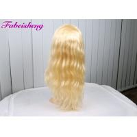 Buy cheap Body Wave Indian Human Front Lace Wigs , Blonde Lace Front Wigs Human Hair from wholesalers