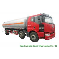 Buy cheap FAW 18000L Liquid Tank Truck / Diesel Fuel Delivery Trucks With Dispenser from wholesalers
