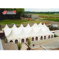 Buy cheap Anti Rust Octagonal Party Tent , White Marquee Tent With Double Wing Glass Door from wholesalers