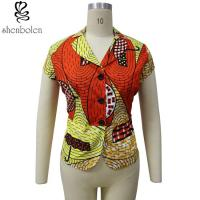 Buy cheap Dashiki Button Womens African Design Ladies Tops Anti - Wrinkle Customized Size from wholesalers