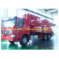 Buy cheap CCC / CE Sinotruk Concrete Pump Truck 21m Boom with HOWO Chassis from wholesalers