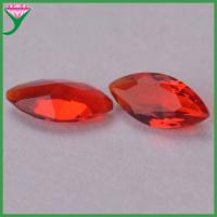 Buy cheap synthetic red ruby marquise cut decorative colored glass stones for jewelry from wholesalers