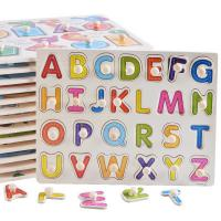 Buy cheap DIY Alphabet Letter Paper Jigsaw Puzzle , Custom Made Puzzles For Kids from wholesalers