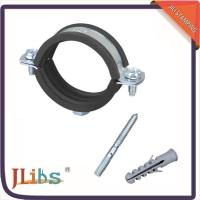 Buy cheap Wall Mount Glass Galvanized Pipe Clamps Iron Sheet Material With EPDM Rubber from wholesalers