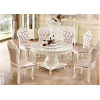 Buy cheap antique round Wood dining table with turntable from wholesalers