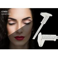 Buy cheap Useful Beige Plastic Calipers Tattoo Accessories Permanent Eyebrows Measuring Tool from wholesalers