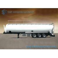 Buy cheap 90m3 3 Axle Aluminum Flour Dry Bulk Tank Trailer With Hydraulic Tipping Tanker from wholesalers