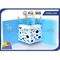 Buy cheap 3D Pop Up Birthday Cake Birthday Cards Greeting Cards Printing , Printable Greeting Cards from wholesalers