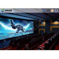 Buy cheap Exciting 5 D Movie Theater Electronic Chair With Safety Belt , Armrest product