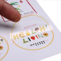 Buy cheap custom clear PVC  PET sticker circle adhesive label with design printing company from wholesalers