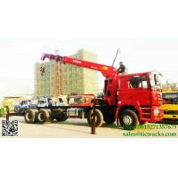 Buy cheap DRZ 8x4 SHACMAN lorry truck mounted crane 12T Palfinger SPS30000  telescopic boom cell:8615271357675 from wholesalers