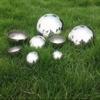 Buy cheap 200mm 250mm Stainless Steel Hemisphere , Round Steel Balls Garden Decoration from wholesalers
