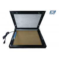Buy cheap 50mm Thickness Framed Cork Board Lockable Illumination Black Painted Aluminum Frame product