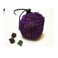 Buy cheap Large Repeating Oval Chainmail Dice Bag Violet Colo Anodized Aluminum from wholesalers