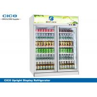Buy cheap Large Reliable Double Door Upright Fridge High Efficient Evaporator from wholesalers