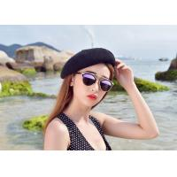 Buy cheap Printing Technic Winter Custom Personalized Hats , Women White Black Wool Beret Hat from wholesalers