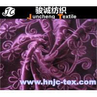 Buy cheap China factory floret design embossed velvet for apparel and dress from wholesalers