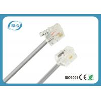 Stranded  7 / 0.12 Mm Telephone Line Cable With Two Cores 1.8 M RJ11