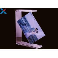 Buy cheap Plexiglass PMMA Custom Acrylic Frames Double Rotating U Shape Picture Table product