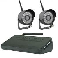 Buy cheap U - shaped bracket 4 channel Wireless DVR Security Camera System with 17 dBm antenna from wholesalers